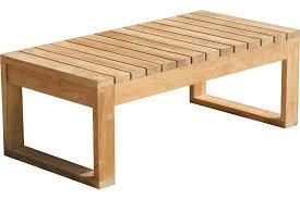 model teak coffee table