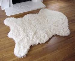 polar bear rug skin legal faux