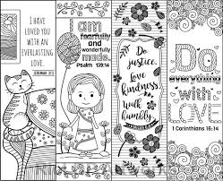 Set Di 8 Bibbia Versetto Da Colorare Segnalibri Per Bambini Etsy