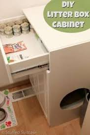 heres how to make a diy litter box furniture cabinet for your cats to help keep bookcase climber litter box