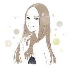 髪の悩み 女性 イラスト素材 3990164 フォトライブラリー Photolibrary