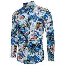 Long Sleeve Designer Shirts Mens Floral Printing Long Sleeve Designer Shirts