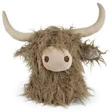 cuddly toy scottisch highlander head