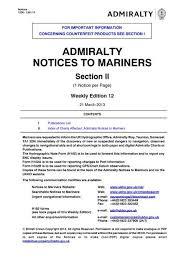 Admiralty Chart 2675 Admiralty Notices To Mariners United Kingdom Hydrographic