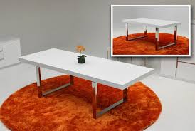 a x skyline white gloss extendable dining table