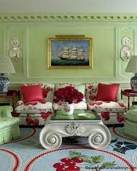 27 daring red and green interior décor