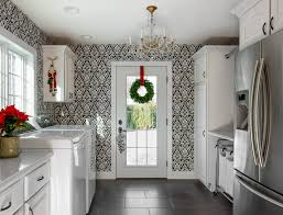 laundry room design ideas laundry room transitional with laundry room black and white wallpaper home addition