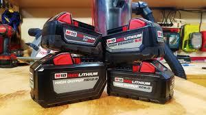 Milwaukee M18 6ah Vs 9ah Vs 12ah High Output Battery Performance Test