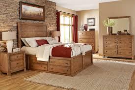Natural Wood Bedroom Furniture Rustic Bedroom Furniture Trinell Queen Panel Bed Bedroom