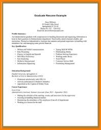 Student Resume Examples No Experience Template Templates Without