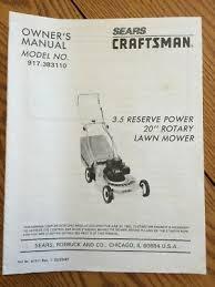 sears craftsman lawn mower owners