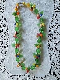 vintage murano glass fruit salad necklace venetian italian italy