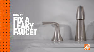 How To Fix A Leaky Faucet The Home Depot Youtube