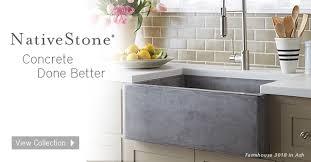 nativestone concrete sinks
