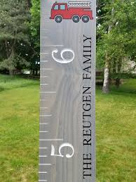 Wood Growth Chart Fire Truck Products Growth Chart Wood