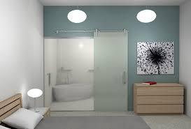 barn sliding glass doors for bathroom ideas