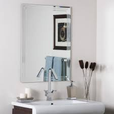 China Waterproof Frameless Bathroom Mirror Made of Polished Edge