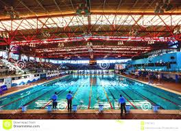 Indoor olympic swimming pool Stunning Olympic Indoor Swimming Pool At An International Sports Framepool Rightsmith Stock Footage Indoor Olympic Swimming Pool Watch Olympic Trials Pool Begins