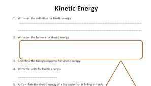 gcse physics worksheet kinetic energy definition formula q a by kpryoyd teaching resources tes