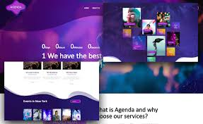 Event Website Template Delectable Free Event Website Template For Event Planners With Gradient Effect