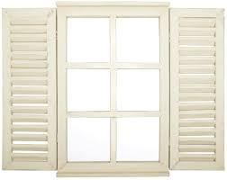 Esschert Design Spiegel Fenster Mit Fensterläden 3 Real