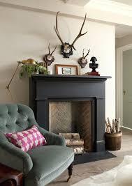 dark painted fireplace black mantel fake wood faux beam mantels uk tile surround