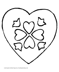 Valentines Day Hearts Coloring Pages A Valentines Heart Coloring