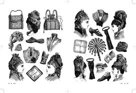 ヴィクトリアンアクセサリー素材集 2020点のヴィンテージイラストコレクション