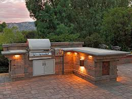 built in bbq. Paver Stone Patio Ideas Contemporary With Bbq Lighting Built In