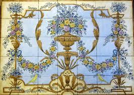 Rococo Decorative Wall Tile French Ornate Baroque Rococo steam shower tile mural Bathroom 4