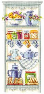 Vervaco Cross Stitch Charts Kitchen Shelf Cross Stitch Kit By Vervaco Cross Stitch