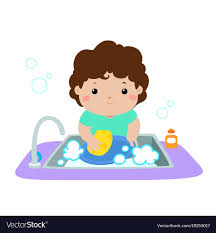 boy washing dishes clipart. Brilliant Clipart In Boy Washing Dishes Clipart B
