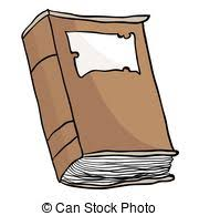 cartoon ilration of an old brown book