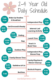 Toddler Schedule Chart The Perfect Daily And Weekly 2 4 Year Old Schedule Our