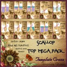 Scallop Templates Second Life Marketplace Template Craze Scallop Top Templates