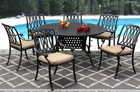 60 inch round outdoor dining table cast aluminum outdoor patio dining set inch round table series