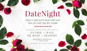 date night invitation template date night dinners design with roses and rose petals easil