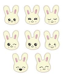 Bunny Face Embroidery Design Bunny Face Applique 4x4 And 5x7 Sizes Included Thread