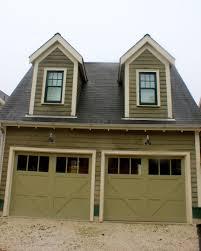Olive Green Dark And Light Combo Trim Garage Doors With Windows - House exterior trim