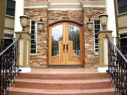 Arched Top Mansion Doors - Custom wood exterior doors
