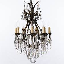 8 arm large brass cage chandelier
