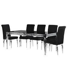 black and chrome furniture. Aztec Black \u0026 Chrome 2m Dining Table And Furniture I