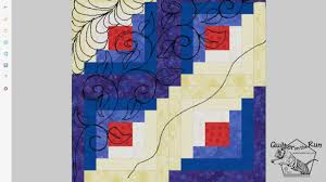 Free Motion Quilting Designs For Log Cabin Free Motion Quilting Ideas For Quilting A Log Cabin Block Variation 2