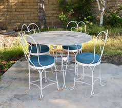 image of mid century wrought iron patio furniture