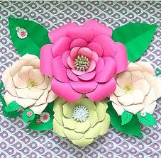 Paper Flower Printables Set Of 2 Paper Flower Templates Everly Priscilla Style Catching