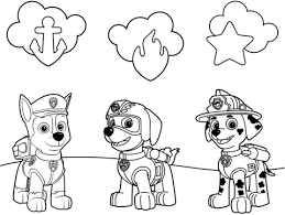 Small Picture Paw Patrol Badges coloring page Free Printable Coloring Pages