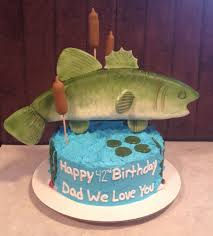 Pin by Lessie Blankenship on Sweets N Treats | 60th birthday cakes, Bass  fish cake, Happy 42nd birthday