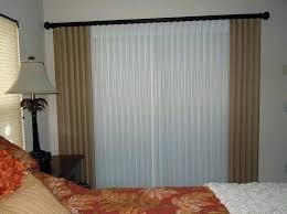 vertical blind sliding door curtain over vertical
