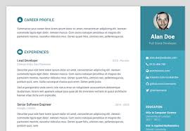 Free Bootstrap resume/cv template for developers - default colour