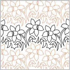 Meadow Flowers quilting pantograph pattern by Lorien Quilting ... & Meadow Flowers quilting pantograph pattern by Lorien Quilting Adamdwight.com